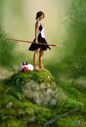 Warrior Mononoke   Photoshop by PhotoshopNJ