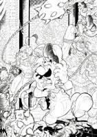 Super Smash Bros X Castlevania ink by Joelchan