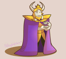 Asgore - Day 16 by FallingWaterx