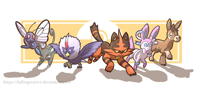 My Pokemon Team by FallingWaterx