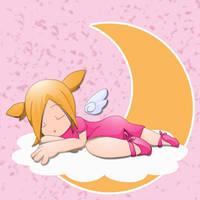 Sleeping Chibi by princessmacaron
