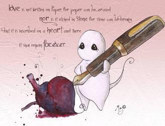 Love is not written on paper by StaticSkies
