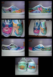 Alice in Wonderland Shoes by StaticSkies