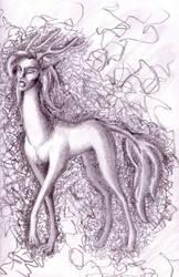 Dog-deer-lady by Tinselcat