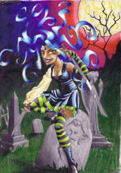 Graveyard Rockette by Tinselcat