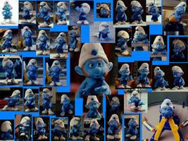 Pure Gutsy Smurf Wallpaper by LeelaComstock