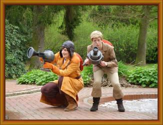 The Original Ghostbusters: Eddie and Jake by LeelaComstock