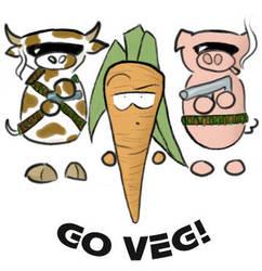 Go Veg by KakiBonham