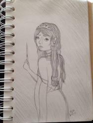 Princess Aelwyn sketch by LadyRobot