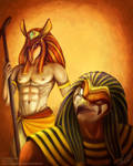 Schemers: Set and Horus by blayrd