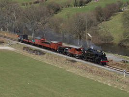 BR Standard 4 Tank 80072 and goods train by DaveOnTheRails