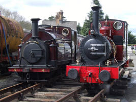 Palmerston and Dolgoch, Carrog (April 2012) by DaveOnTheRails
