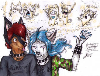 Luger and Ena by Enaya-TheWhiteWolfen