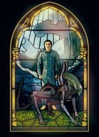 Alien Covenant Stained-glass window by ZacharyFeore