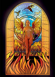 Mother of Dragons Stained-glass window by ZacharyFeore