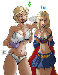 powergirl supergirl flats - Colored by duplex2