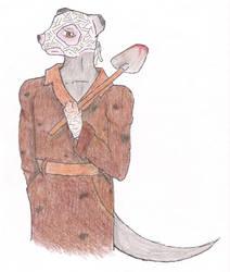 Colored Pencil:The Gravedigger by Bucketfox