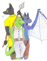 Colored Pencil: Xhavek's Crew by Bucketfox