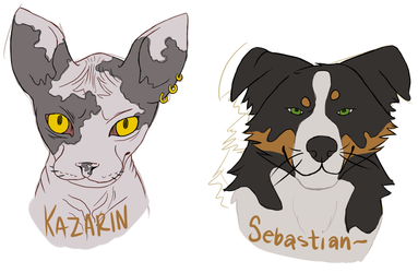 Kazarin and Sebastian by Bucketfox