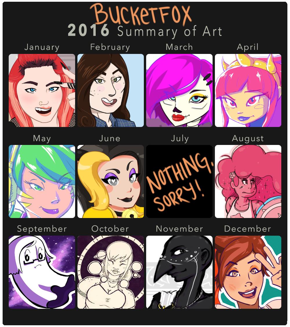 2016 Summary of Art by Bucketfox