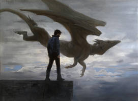 Self-Portrait with Dragon by TomasProchazka