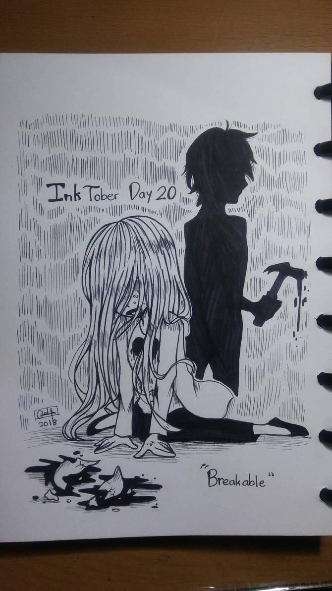 Inktober Day 20 : Breakable by RaHmADiTa2219