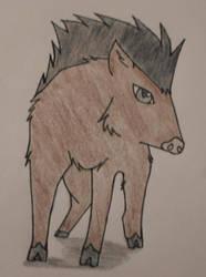 Indian boar by NikitaFang