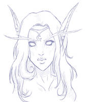 Tyrande Whisperwind - sketch by midwinter0