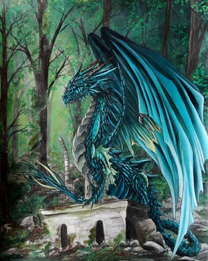 Forest Dragon by krisbuzy
