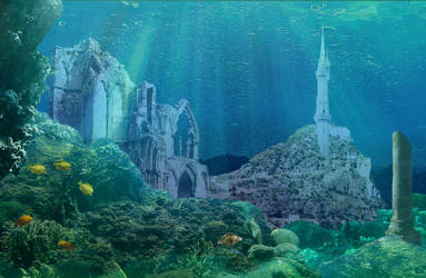 Numenor under the waves by CosmicHawk