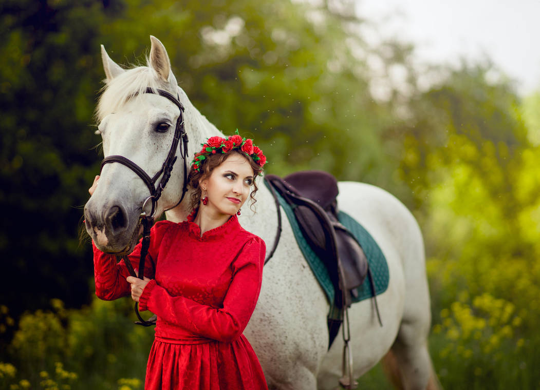 Girl and horse by Ilya245