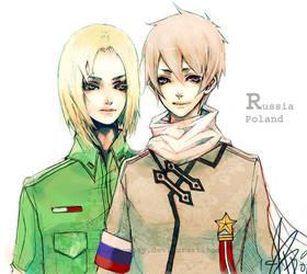Hetalia - Poland and Russia by ProdigyBombay