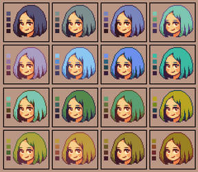 Color palettes: Hair 2 by runmry