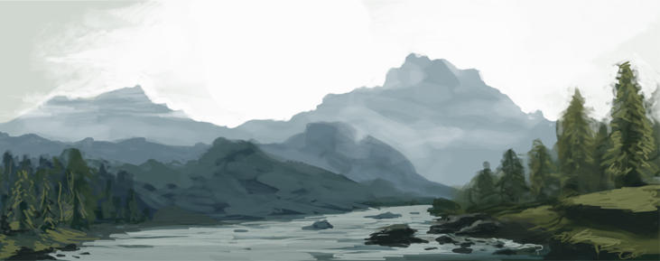 Landscape speed painting by FonteArt