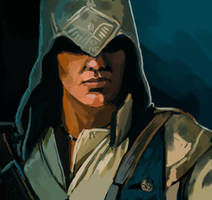 Connor Kenway Speedpainting by FonteArt