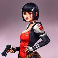 Sci-Fi Girl by FonteArt