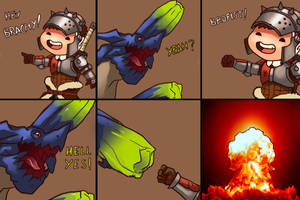 Monster hunter comic  - Brachfist by FonteArt