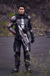 Commander shepard cosplay by FonteArt