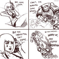 40k comic: When the Inquisitor isn't home by FonteArt