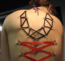 Corset Pierced by LadyBloodFlower
