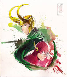 Loki and Flash by Archie-The-RedCat