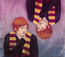 weasley twins by GuppeeBlue
