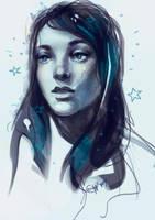 Sketch girl by GuppeeBlue