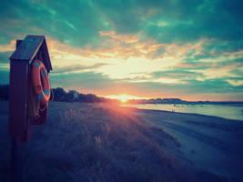 Retro Sunset by superflyninja