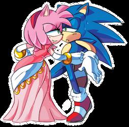 Do you like my dress, Sonic? by ProBOOM