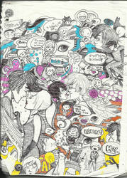 rainbow doodle by Nebue