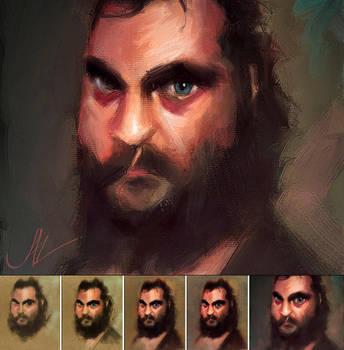 Joaquin Phoenix Caricature by JALpix