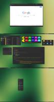 Greenish Fluxbox - Numix edition by xeXpanderx