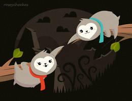 Sloth Love by RoseyCheekes
