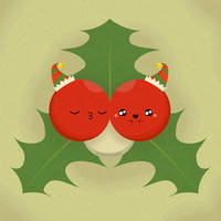 Kissing Mistletoe Berries by RoseyCheekes